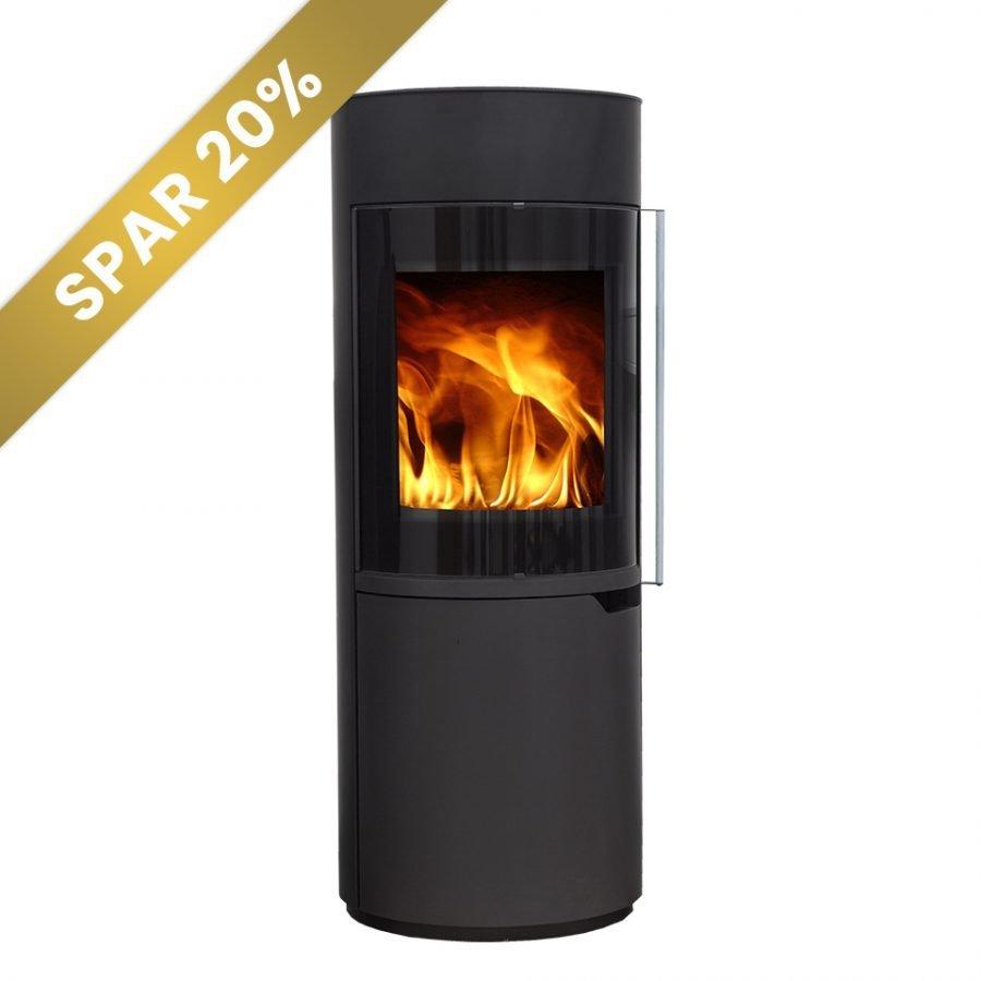 Vento Enya 120 brændeovn med luft, sort