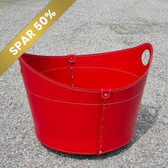 Giro rød brænde kurv i læder